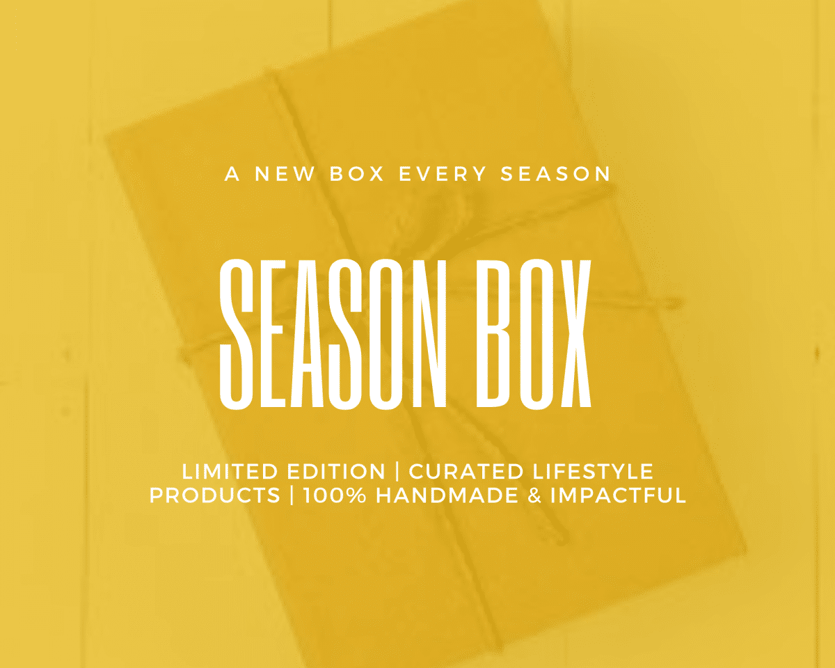 Season Box- 6 months Plan Shop by Venezia Autentica - Shop by Venezia Autentica - Every season get 1 to 2 made in Venice crafts delivered to your doorstep. Unique accessories for your home or for yourself that look great, last a lifetime and make a positive impact. Re-bills every 6 months. Each season box contains 1 to 2 items made in Venice, Italy by artists and master artisans. The handcrafted products will bring personality, style, and luxury to your wardrobe and home while making a positive impact! 1 to 2 genuine handmade lifestyle products Stories about the products and makers The wonderful feeling created by having made a positive impact and owning something unique Funding of the planting of trees Free Shipping 100% Satisfaction Cancel Anytime