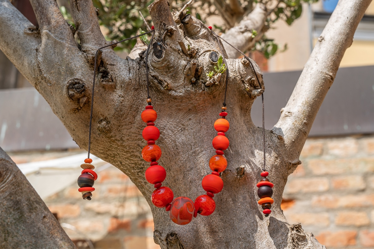 """Murano Oranges"" Necklace Shop by Venezia Autentica - Shop by Venezia Autentica - Beautiful, fresh and cool Murano Glass necklace, designed and handmade in Venice, Italy. Every bead, crafted by lampworking, is unique, beautiful, and durable!"
