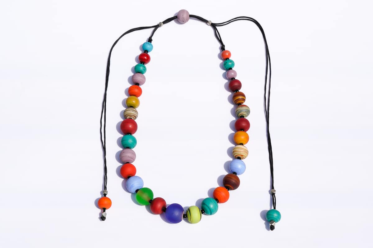 """Planetary Joy"" Necklace Shop by Venezia Autentica - Shop by Venezia Autentica - Imagine collecting all the most intense colors and creating a necklace out of it. Well, that's what we did with this Murano Glass necklace, made 100% in Venice!"